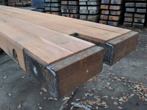 20cm thick full Ekki with steel cover.